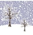Winter season design landscape with snow vector image