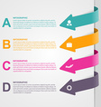 Colorful arrow options infographic vector image