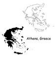 1074 athens greece vector image