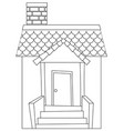 a simple house outline vector image vector image