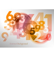 abstract shape with numbers red vector image vector image