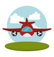 airplane flight transport icon vector image