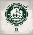 alternative eco product stamp vector image