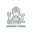 assembly work line icon assembly work vector image vector image