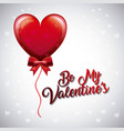 be my valentines balloon heart fly bow decoration vector image vector image