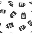 best buy hang tag seamless pattern background vector image