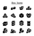 boxes icon set vector image vector image