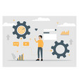 building a startup analytic internet vector image vector image