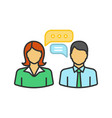 business chat color icon vector image