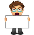 Business Man Blank Sign 1 vector image