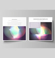 business templates for square brochure magazine vector image vector image