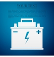 Car battery flat icon on blue background vector image