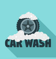 car wash tire logo flat style vector image