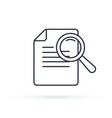 case studies line icon infographic element vector image vector image