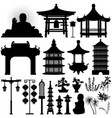 chinese asian temple shrine relic a set of vector image vector image