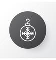 christmas ball icon symbol premium quality vector image vector image
