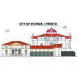 city of vicenza - veneto line travel landmar vector image vector image