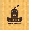 coffee grinder vector image vector image