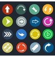 Color round arrow icons vector image