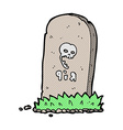 comic cartoon spooky grave vector image vector image
