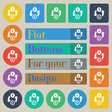 Currency exchange icon sign Set of twenty colored vector image vector image