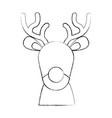 cute christmas reindeer vector image vector image