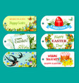 easter greeting tag and label set for gift design vector image vector image