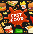 fast food poster burgers fastfood menu sandwiches vector image vector image