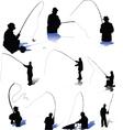 Fishermen-s vector image