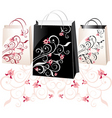 floral bags vector image vector image