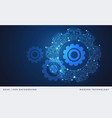 gear abstract technology background blue vector image vector image