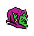 goblin head mascot vector image vector image