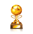 golden ball isolated vector image vector image