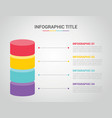 infographic template with bar shape 3d shape vector image
