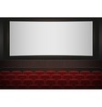 Interior of a cinema movie theatre Red cinema or vector image vector image