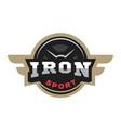 iron sport logo emblem vector image vector image