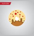 isolated donuts flat icon doughnut element vector image vector image