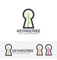keyhole tree logo design vector image