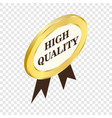label high quality isometric icon vector image vector image