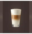 Latte Glass vector image vector image