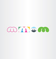 letter m logo design set icons vector image