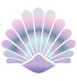 mermaid shell vector image vector image
