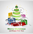 merry christmas and happy new year wishes with vector image vector image