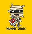 mummy shoes logo and branding mummy bring shoes vector image
