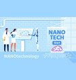 nano technology for improvement brain functions vector image vector image
