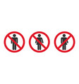 no entry man women sign vector image vector image