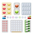 pills and capsules drugs vector image