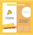 pizza company brochure template busienss template vector image vector image