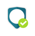 privacy secure shield icon or insurance vector image vector image