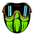 protective mask icon cartoon vector image vector image